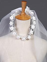 Wedding Veil Two-tier Elbow Veils/Headpieces with Veil Cut Edge