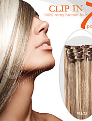 """7 Pieces 18"""" 100g Clip in Ty.Hermenlisa 100% Peruvian Remy Human Hair Piano Color"""
