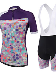 Cycling Jersey with Bib Shorts Women's / Unisex Short Sleeve BikeQuick Dry / Ultraviolet Resistant / High Breathability (>15,001g) /