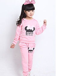 Girl's Long Sleeve Bow Design Sweatshirt Cardigan with Hat and Trousers Terry Cotton Twinsets Sport Suit