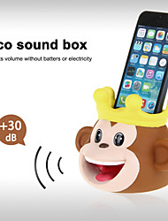 Cute Hands-Free Monkey Sound Amplifier Stand Speaker Holder for iPhone 4/4S/5/5S/5C