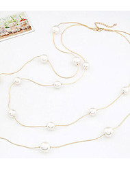 New Arrival Hot Selling Double Long Pearl Necklace