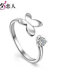 925 Sterling Silver Sterling Silver Ring Nvjie Female Butterfly Opening Fashion