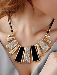 New Arrival Fashional Hot Selling High Quality Geometric Created Gemstone Necklace