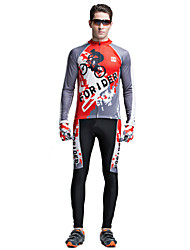 Riding Bicycle Service Men's Clothing Set Speed Surrender Long Sleeved Outside passion