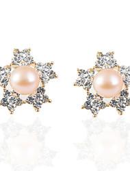 Damen Ohrring Perle/Legierung Künstliche Perle/Strass Stud Earrings