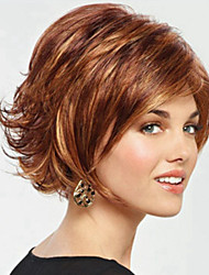 Fashion Outside Brown Wings Natural Curved Short Curly Wig