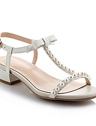 Women's Shoes Calf Hair Chunky Heel Peep Toe/Round Toe Sandals Wedding/Outdoor/Office & Career/Party & Evening/Dress