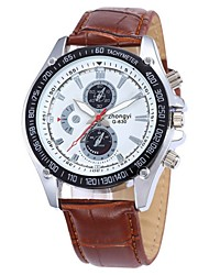 Alston Men's Leather band Analog Quartz Sports Watch(Assorted Colors)
