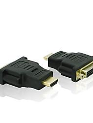 plaqué or HDMI 1080p v1.3 mâle à DVI-D (24 + 1) adaptateur convertisseur femme