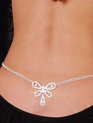Women's Body Jewelry Belly Chain Body Chain Unique Design Fashion Sexy Costume Jewelry Rhinestone Imitation Diamond Bowknot Jewelry