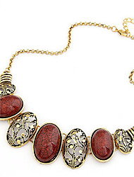 New Arrival Fashional Retro Hot Sellign Hollow Carving Gem Necklace