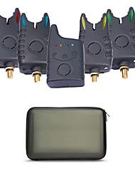 promoção de pesca sem fio mordida despertador digital de alarme de pesca 1 + 4 para a pesca da carpa em caso eva excluindo bateria