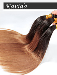 Unprocessed 100% and Soft Straight Brazilian Ombre Hair, 3 Pcs/Lot Ombre Hair Wholesale Brazilian Hair