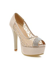 Women's Shoes Stiletto Heel Heels/Peep Toe/Platform/Round Toe Sandals Dress/Casual Silver/Gold
