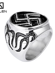 Kalen Men's Jewelry Hot Sale Stainless Steel Wheel Ring Jewelry