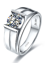 11mm Male Jewelry Fabulous Hearts and Arrows SONA Diamond Ring for Man Sterling Silver Luxury Micro Paved 5CT Lord Ring