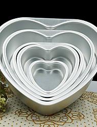 5 polegadas molde forma do coração amor de metal bolo destacável molde pastelaria inferior ao vivo