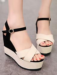 Sakura    Women's Shoes Black/Pink Wedge Heel 10-12cm Sandals
