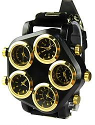 unisex mostrador grande bandeira de marcação de cinco relógio tempo zona de pulso de quartzo (cores sortidas)
