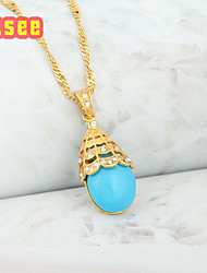 Fashion Gift  18K Golden Plated with Turquoise Pendant Jewelry