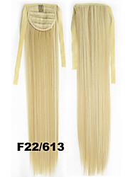 Tie Style Wig ponytail straight fiber 80g 55cm high temperature