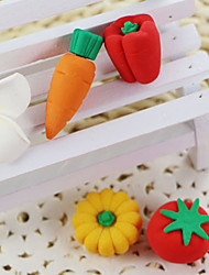 Cartoon Vegetable Assemble Rubber Eraser (Random Color)