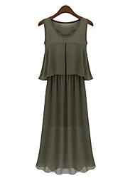 Vestito Da donna Casual Maxi Chiffon