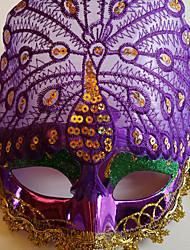 pavão exibido multa partido cauda pena de cor halloween máscara roxa do disfarce