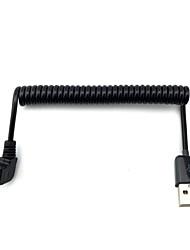 micro usb 90 graus dobra em ângulo cabo do carregador do telefone android cabo de dados 1 metro