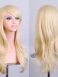 la mode dessin animé de couleur perruques colorées de mascarade spéciale 70 cm perruque or pâle