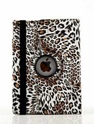 9,7 pouces de 360 degrés de rotation motif imprimé léopard avec des cas de support pour iPad air 2 / ipad (6 couleurs assorties)