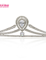 Neoglory Jewelry Clear Austrian Rhinestone Tiara Crown Hair Combs for Bridal Wedding Pageant
