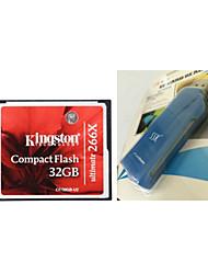 kingston cf / tarjeta de memoria compact flash 32gb ultimate-u2 (32gb / clase 151 ~ 266x) y lector de tarjetas cf