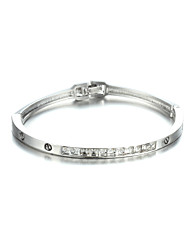 Sjewelry Girls Latest Style White Stone Plating White Gold Bracelet