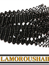 "3 Pcs/Lot 12""-30"" Eurasian Virgin Hair Color 1B Tight Curly Human Hair Extension"