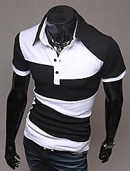 Informeel Shirt Kraag - MEN - T-shirts ( Katoen / Katoenmengeling )met Korte Mouw