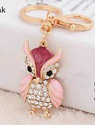 Owl Rhinestone Wedding Keychain Favor