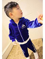 Boy's Cotton/Cotton Blend/Spandex Clothing Set , Summer Short Sleeve