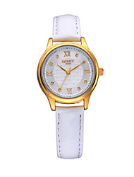 Lady's New Fashion Style Assorted Colors Special Charm Dial Genuine Leather Band  Japan Quartz Wristwatches