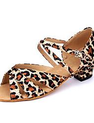 Zapatos de baile (Leopardo) - Danza latina - No Personalizable - Tacón bajo