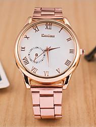 rodada caso mostrador do relógio marca de moda liga de quartzo das mulheres relógio (cor movimento vão poder)