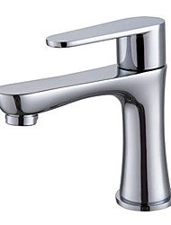 Warpeu® Contemporary Single Handle Brass Chrome Basin Faucet Cold Tap