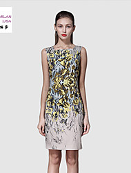 MILANLISA®Women's High Quality Printing Code Dress Code High-end Dress