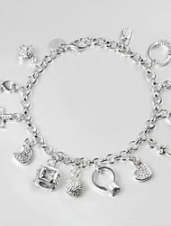 s925 pulsera enlace pulsera de plata 13 pulseras de techo de diseño para mujeres