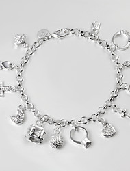 S925 Silver Bracelet Link Bracelet 13 Pendant Design