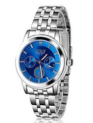 bosei alto grau de aço inoxidável relógio de quartzo de negócios de luxo