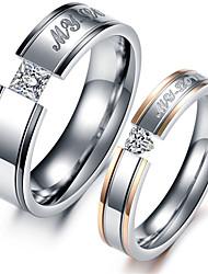 Couple de Bagues ( Gemme/Acier au titane ) Mariage/Soirée/Quotidien/Casual