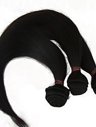 """3pcs lote 10 """"-28"""" não transformados peruano extensões de cabelo humano Mechas grau 6a reta natural preto"""