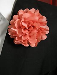 Men's Casual Pink Silk Goods Brooch